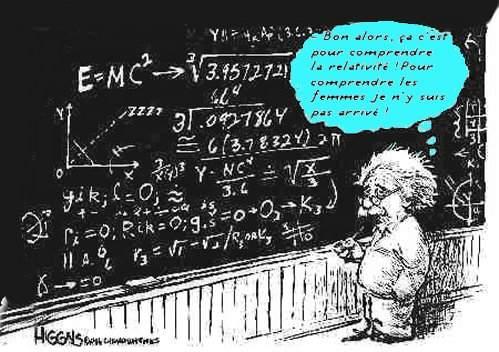 Image humoristique d'Albert Einstein